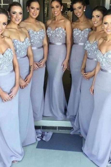 Charming lace Prom Dress,beauty bridesmaid dress,Long Chiffon Bridesmaid Dress Floor Length Party Dresses