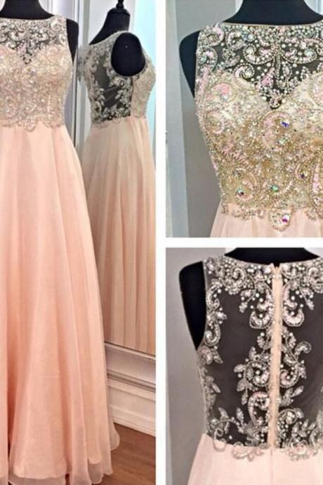 Sexy Beading Prom Dress,Backless Long Prom Dress, Formal Prom Dress ,Chiffon Prom Dress, Cheap Prom Dress,Long Evening Dress,party Dress