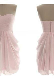 Pink Short Bridesmaid Dresses,Cheap Bridesmaid Dress,Sweetheart Prom Dress,High Low Bridesmaid Dresses,Ruffles Tiered Bridesmaid Dress,Cheap Bridesmaid Gowns,Simple Short Prom Dress,Homecoming Dress,Cocktail Dresses