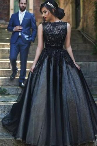 High Neck Prom Dress, Black Lace Prom Dress, Cheap Prom Dress, Tulle Prom Dresses,Princess Ball Gown Prom Dress, Fluffy Skirt Evening Gowns,Quinceanera Dress 2016 For Teens Juniors Dress,Fashion Graduation Dresses