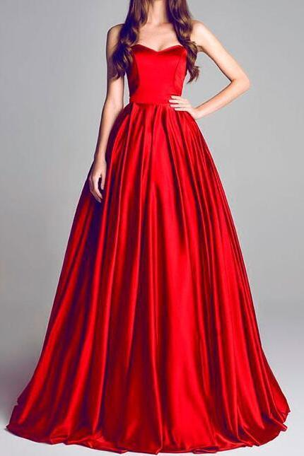 Sexy Red Prom Dress,Long Evening Dress,Prom Dress Long,Party Dress, Sweetheart Prom Dresses,Elegant Prom Dresses,Formal Evening Dresses,A Line Prom Dress