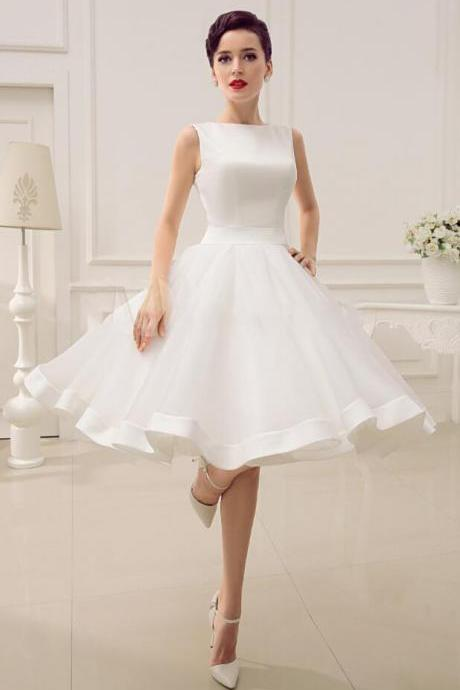 Ball gown Wedding Dress,Tulle Homecoming Dress,Puffy Short Wedding Dress,White Dresses for Graduation,Flower Girl Dresses,Cocktail Party Dresses