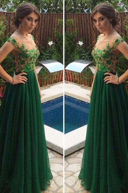 Sexy Lace Prom Dress, Mermaid Prom Dress,Cheap Charming Green Prom Dresses,Scalloped Tulle Women Dress,Long Evening Dress