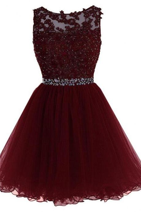 Sexy Homecoming Dress,Short Tulle Prom Dress,Beading Homecoming Dress,Cheap Prom Dress