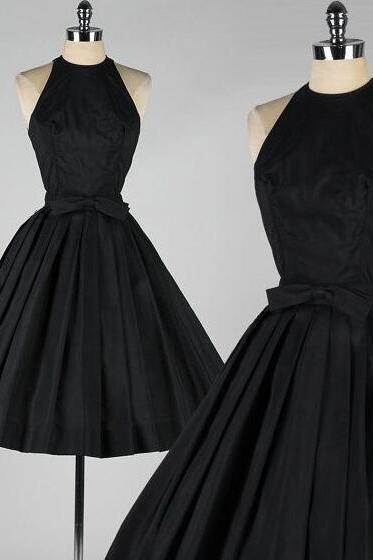 A Line Short Prom Dresses, Short Homecoming Dress,Black Prom Dress, Sexy Homecoming Dress,Vintage Homecoming Dress