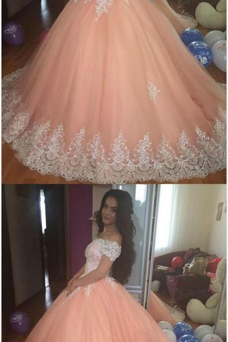 Lace Bodice Prom Dress,Sexy Prom Dress,Cheap Prom Dress,Off Shoulder Ball Gown prom Dress,Long Party Prom Dresses