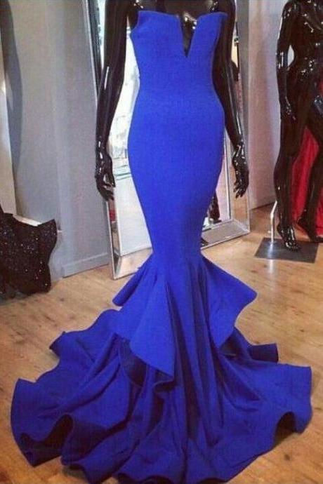 Royal Blue Prom Dress,Sexy Prom Dress,Long Prom Dress,Cheap Formal Gown,Prom Dresses,Evening Gowns,Formal Gown For Teens